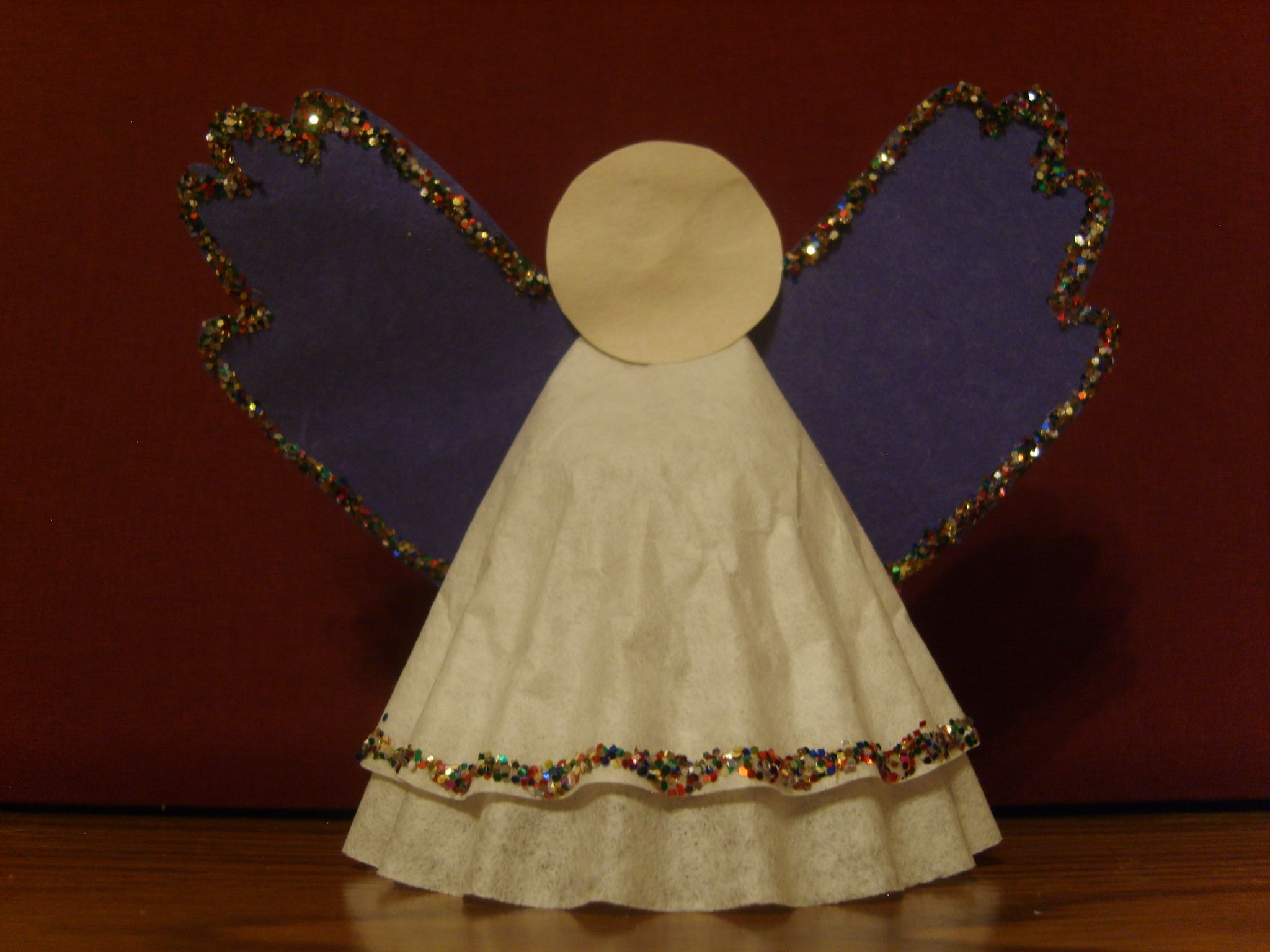 Sonbeams  Childrens Christmas Crafts Homemade Angels