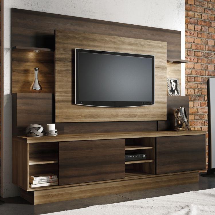 home interiors en linea. Estante Home para TV at  55 Polegadas Aron Linea Brasil Capuccino Wood bano