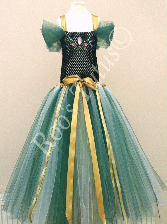 Anna Frozen Coronation Inspired Tutu Dress Costume By ItsRoosTutus
