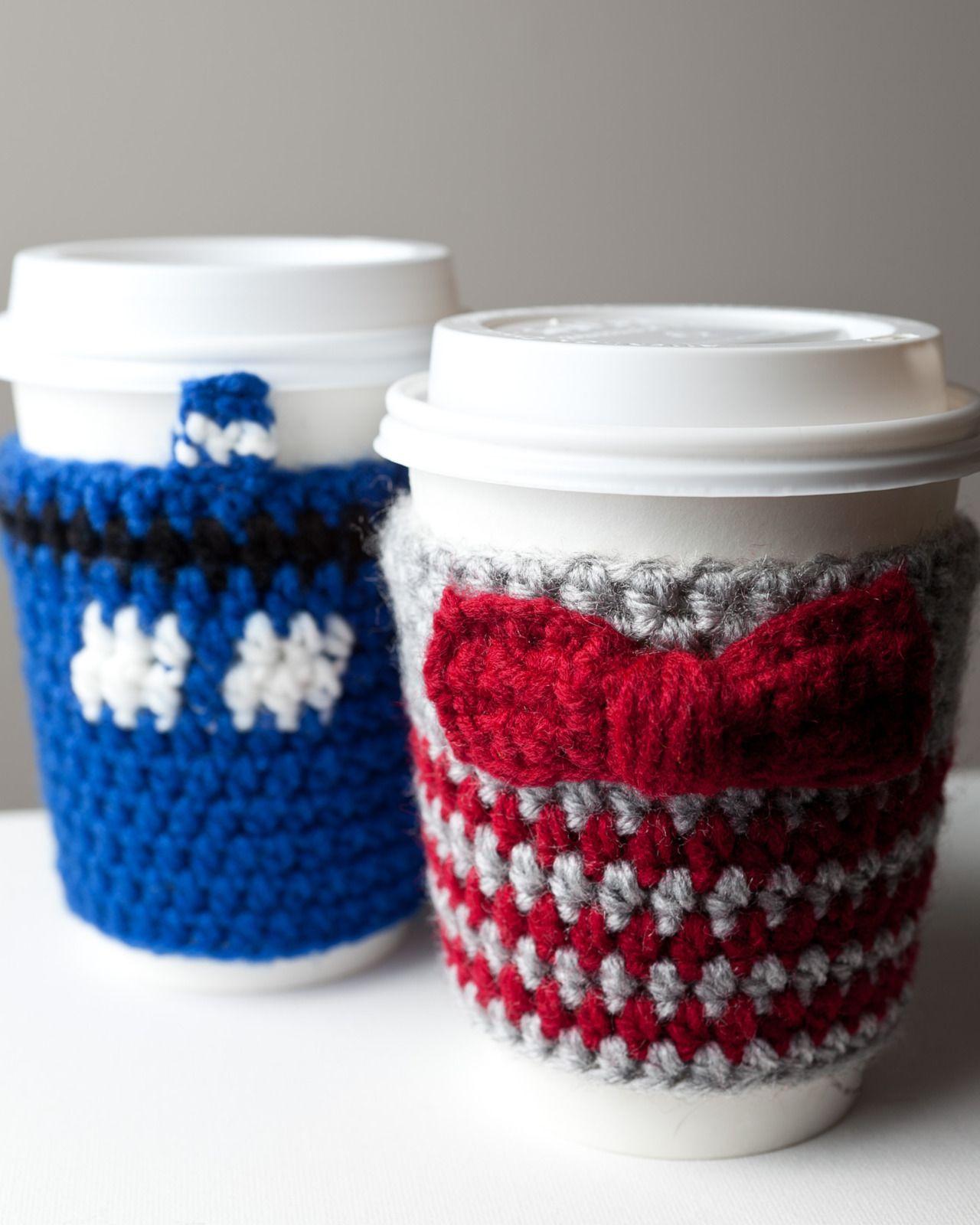 Doctor Who Coffee Cozy Doctor Who Crochet Crochet Cup Cozy