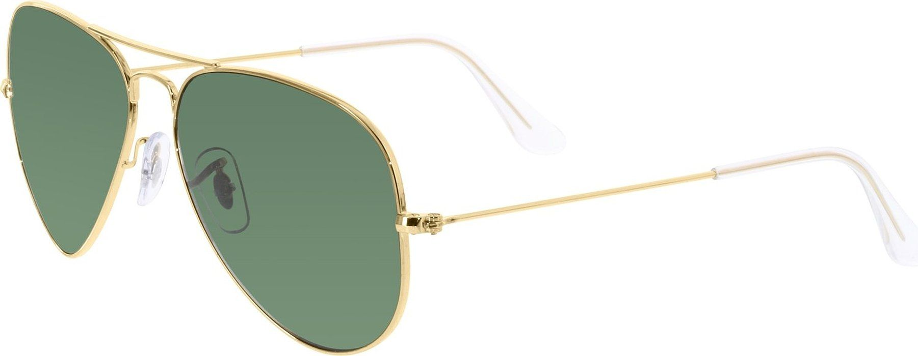 b9b56d72e6 RAY BAN RB 3025 001 58 RAYBAN NATURAL GREEN POLARIZED LENS   ARISTA FRAME  SIZE 55-14-135 SUNGLASSES