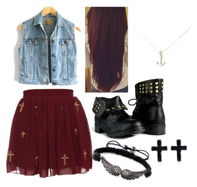 """""""Untitled #4"""" by wesome-outfits ❤ liked on Polyvore featuring Levi's, Bing Bang and River Island"""