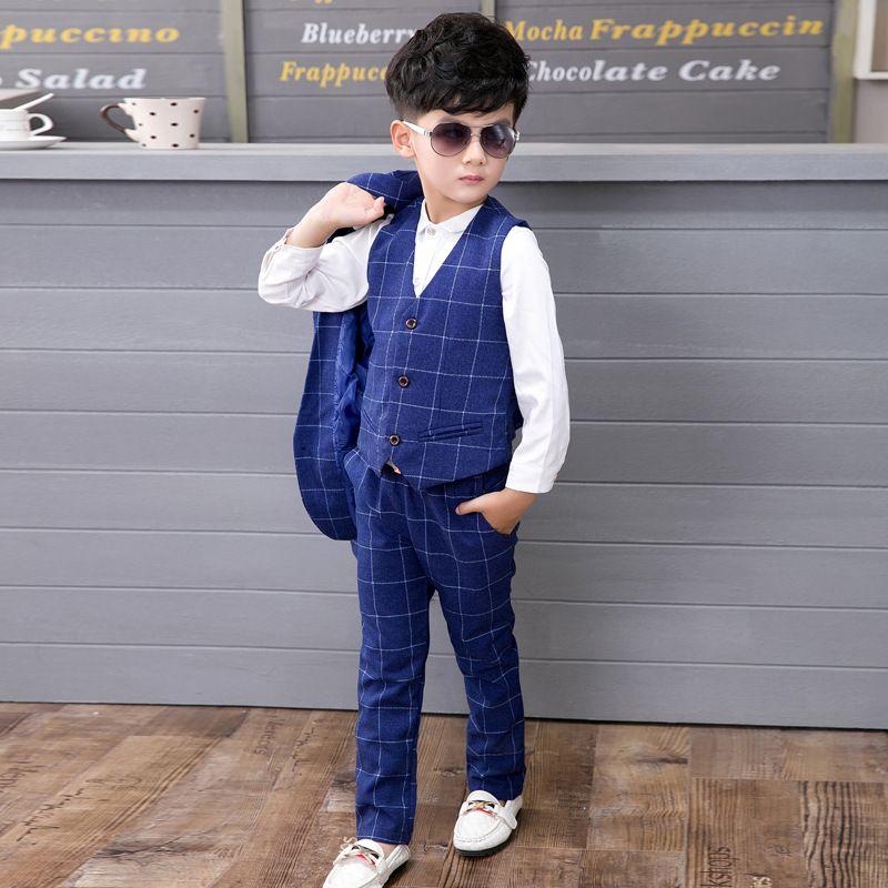 aea308ea4 new arrival fashion boys 4PCS Jacket + pants + vest + shirt blazers ...