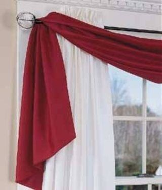 Different Ways To Hang A Window Scarf Hunker Window Scarf
