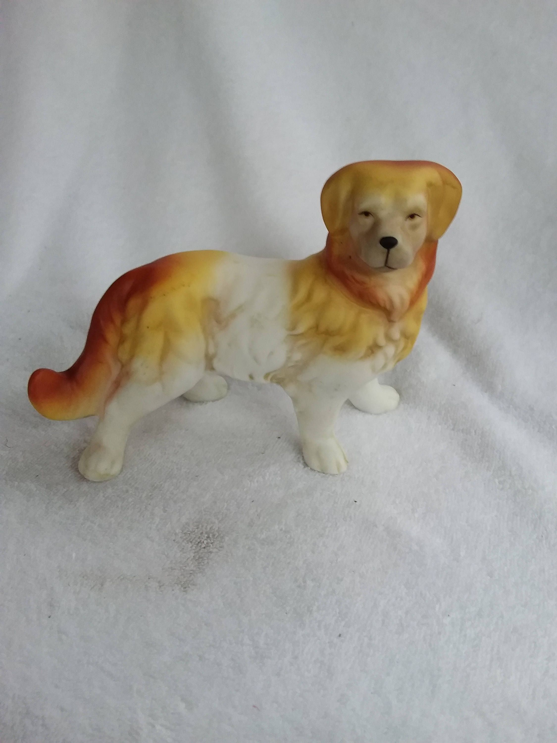 Vintage Golden Retriever Porcelain Golden Retriever Dog Figurine