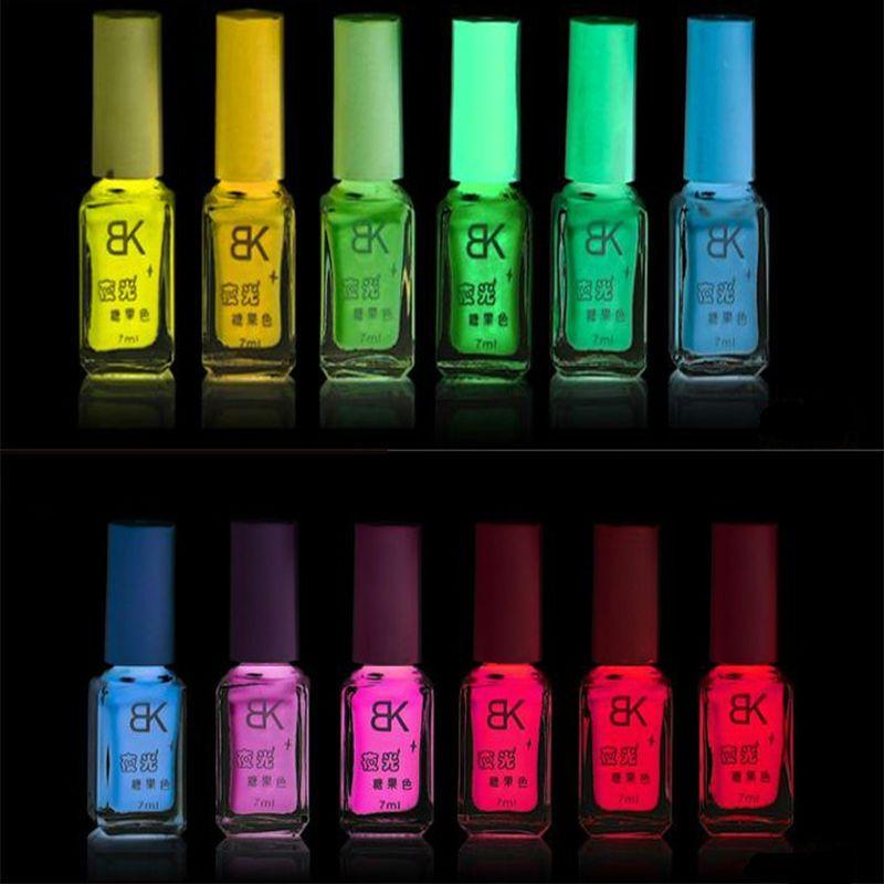 20 Colores de esmalte de uñas Luminoso Fluorescente de Neón Luminoso ...