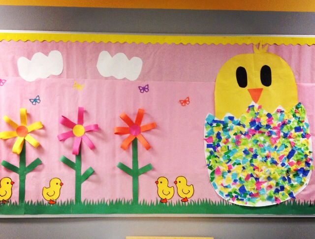 Classroom Easter Ideas : Easter bulletin board school pinterest