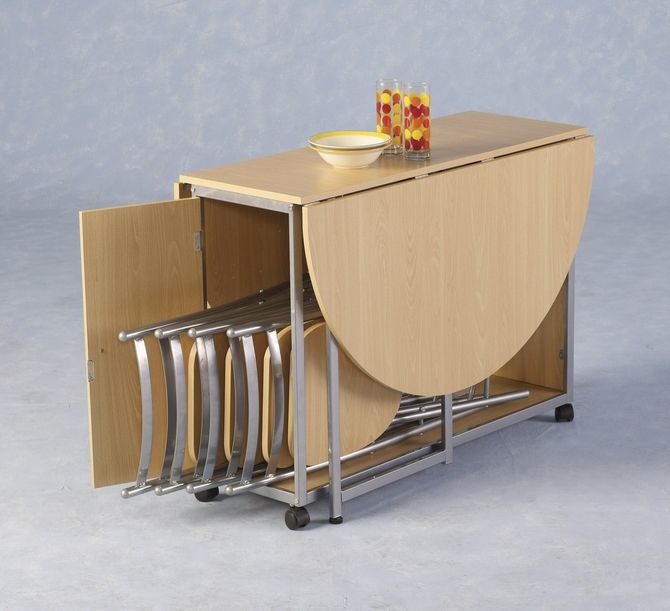 Fold Down Hide The Chairs Table This Is A Fantastic Idea