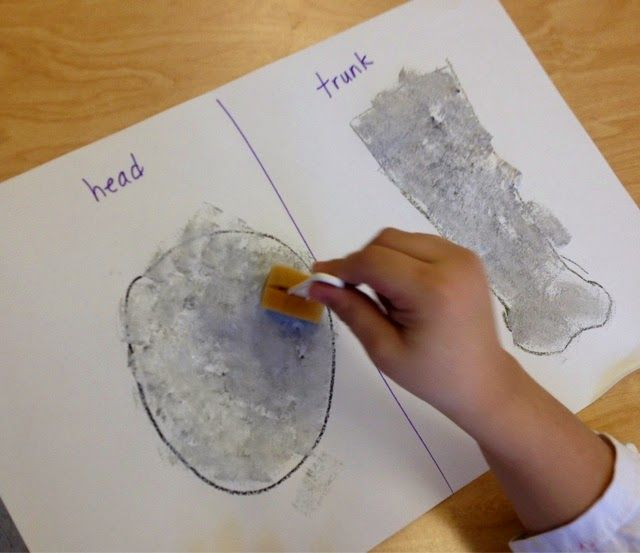 Awesome Elephants!       Kindergarten     -Sponge Painting     -Pattern     - Black + White = Gray                 The students enjoyed spo...