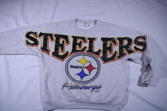 new product fb0d1 4d070 90s Vintage Pittsburgh Steelers Sweatshirt|Unisex 90s NFL ...