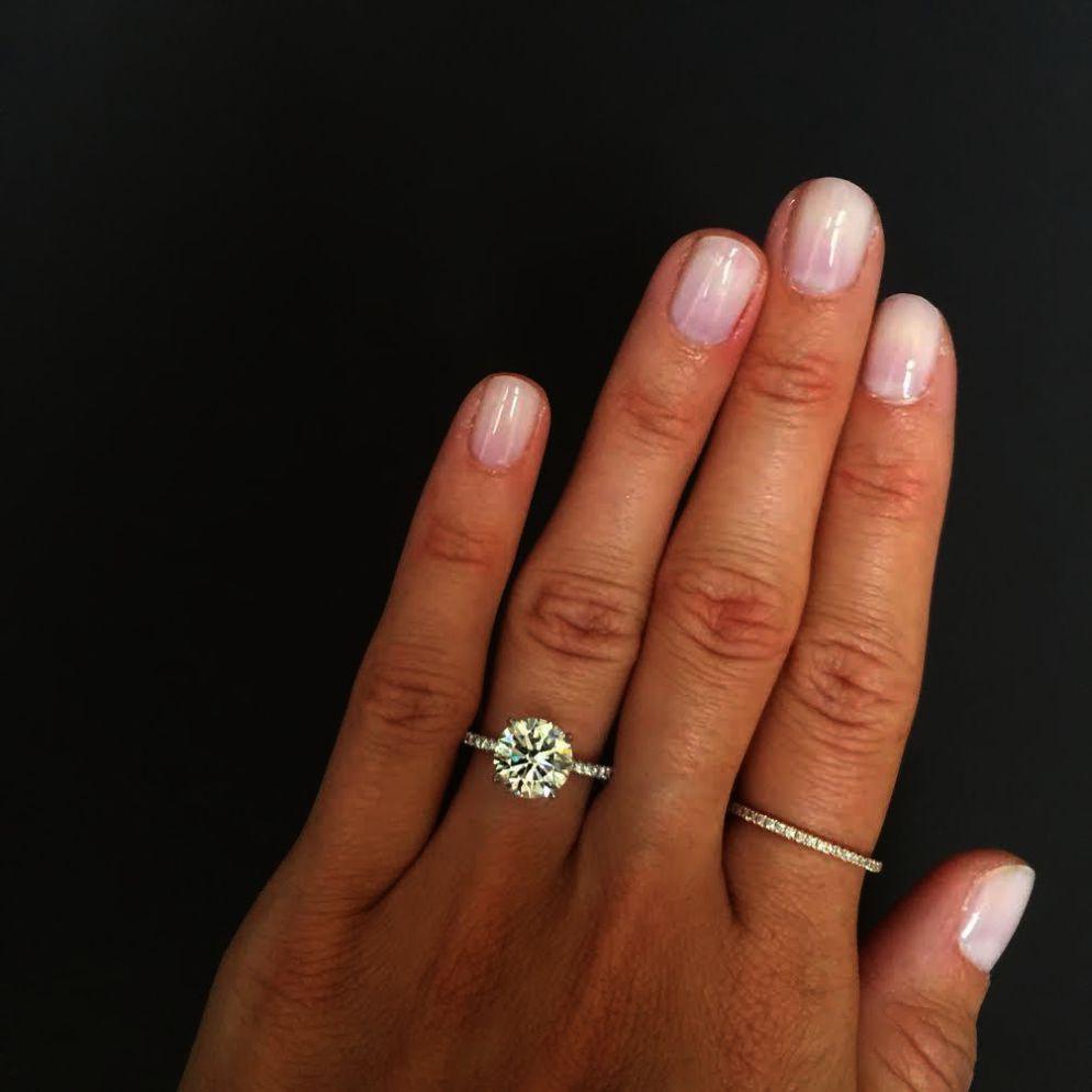 Wellingsale Polished Design Comfort Wedding Diamond Engagement Ring Set Wedding Rings Simple