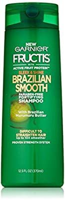Amazon.com : Garnier Fructis Sleek & Shine Brazilian Smooth Shampoo, Difficult to Straighten Hair, 12.5 fl. oz. : Beauty #brazilianstraightening Amazon.com : Garnier Fructis Sleek & Shine Brazilian Smooth Shampoo, Difficult to Straighten Hair, 12.5 fl. oz. : Beauty