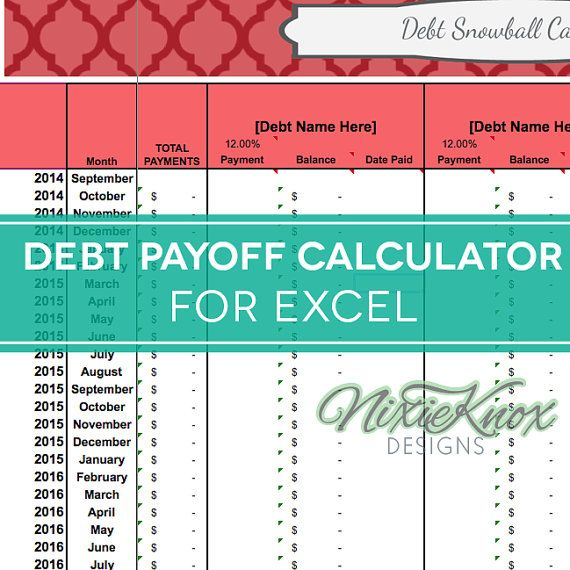 Debt Payoff Calculator for Excel, track your interest rates - credit card payoff calculator