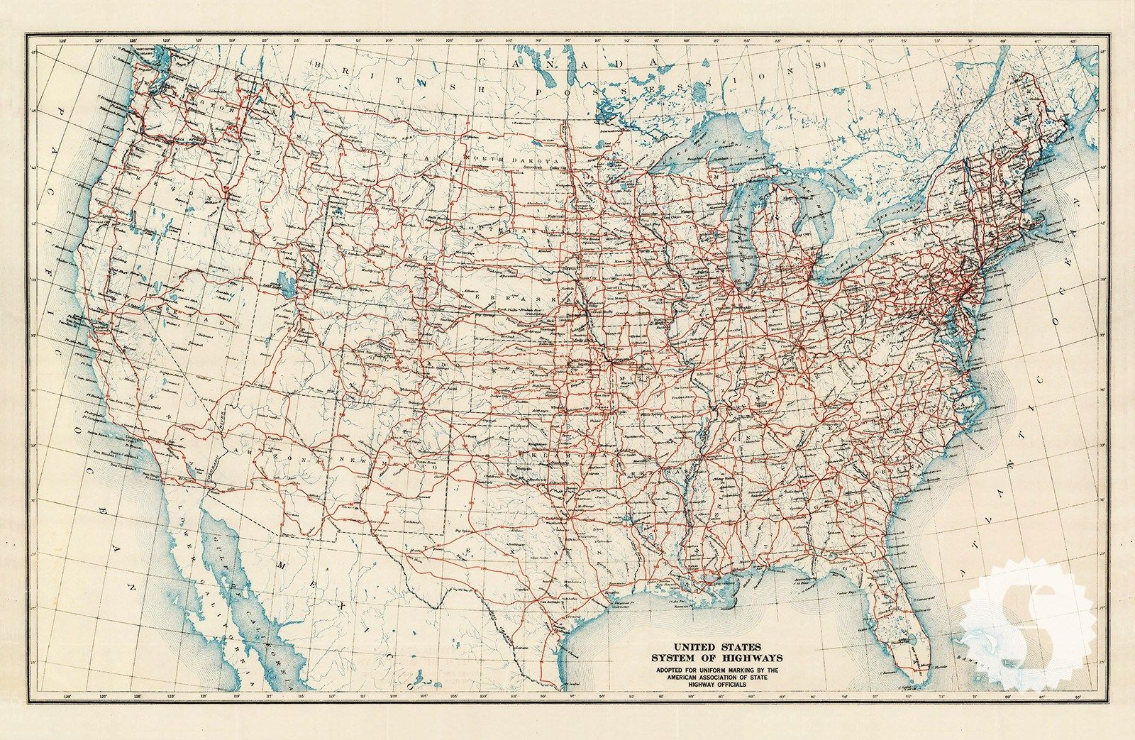 US Atlas Map | Products | Highway map, Map, Us map