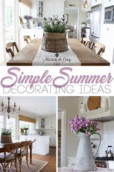 Ideas for Simple Summer Decorating! Summer Touches to Add Now to Brighten up Your Space ---> #maisondecinq summerdecor summerdecorating whitekitchen kitchendecor farmhousekitchen frenchcountry countryfrench frenchfarmhouse decoratingideas farmhousestyle farmhousedecor blueandwhite lavender  Ideas for Simple Summer Decorating! Summer Touches to Add Now to Brighten up Your Space ---> #maisondecinq summerdecor summerdecorating whitekitchen kitchendecor farmhousekitchen frenchcountry countryfrench f