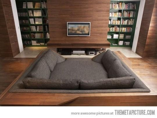 Can't find the source for this image but this square enclosed couch looks  dreamy
