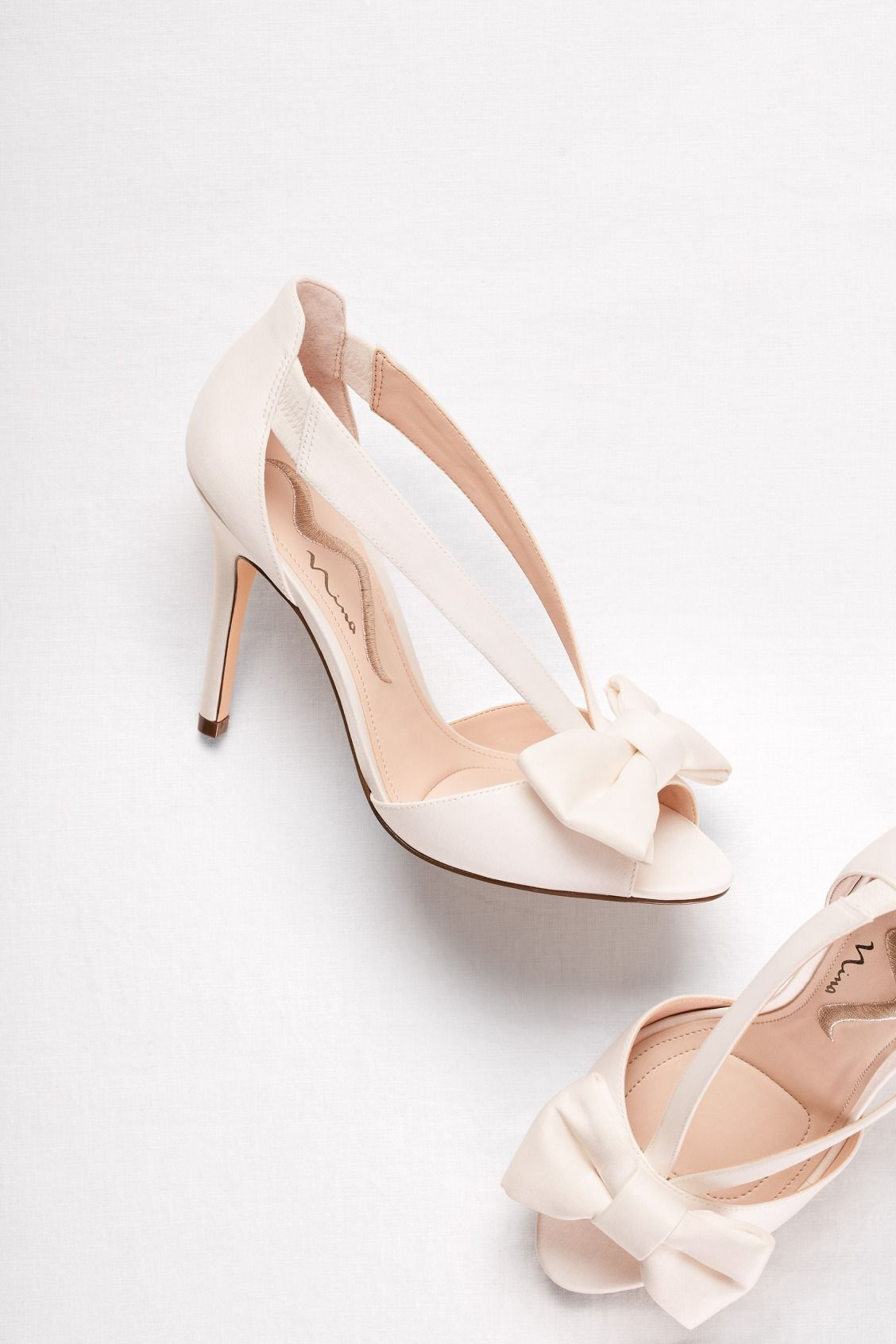 1e9a6500c0a A traditional wedding heel with a modern twist! Shop these strappy ...