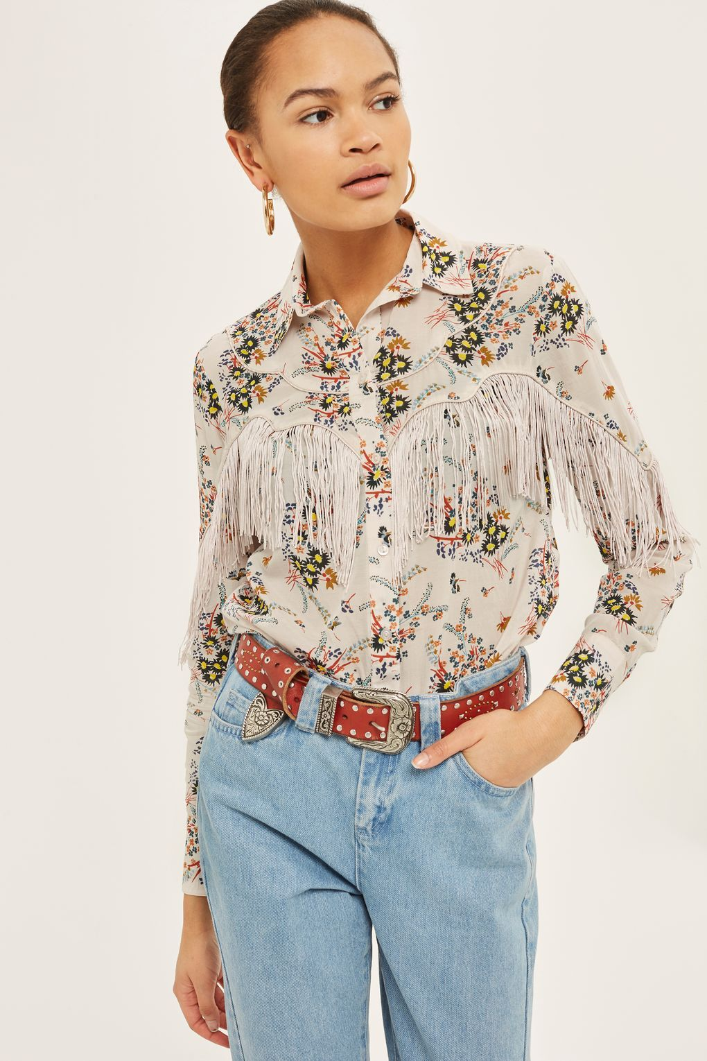 c4d3f8004846d1 Rodeo Fringe Floral Shirt | Western style clothing | Floral print ...