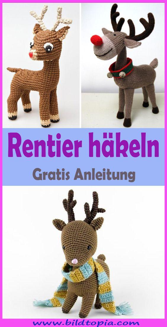 Amigurumi Rentier häkeln – kostenlose & einfache Anleitung #crochetdinosaurpatterns