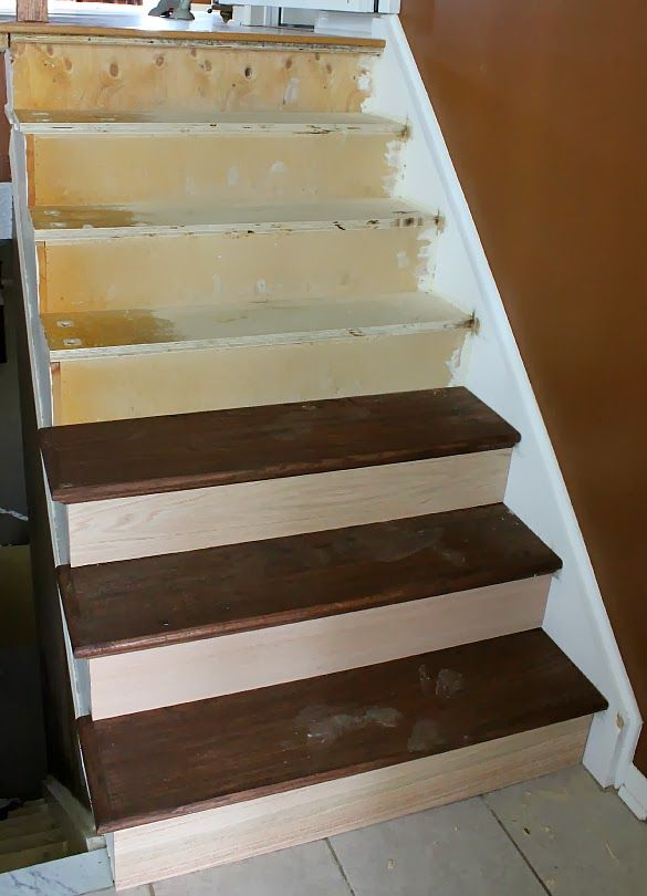 Best Stairway Remodel Part 3 Installing New Stair Treads And 400 x 300