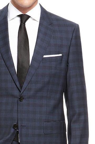 54bad613d HUGO BOSS - 'The James/Sharp' | Regular Fit, Virgin Wool Plaid Suit by BOSS  #YorkdaleStylesTIFF13
