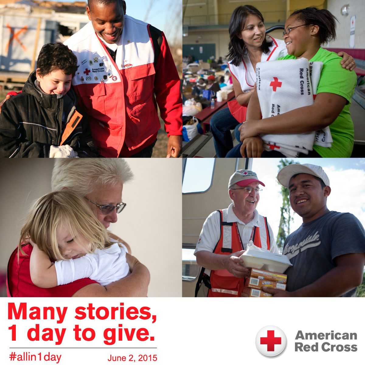 How has the red cross helped you in your time of need