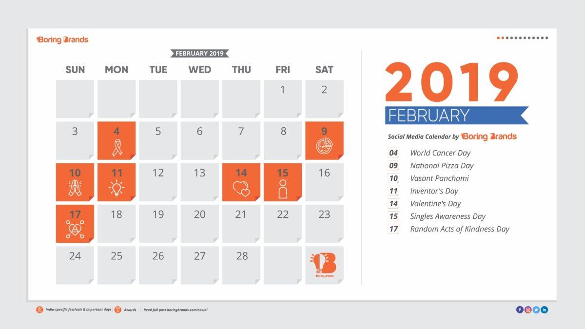 Boringbrands The Ultimate Social Media Calendar For Indian