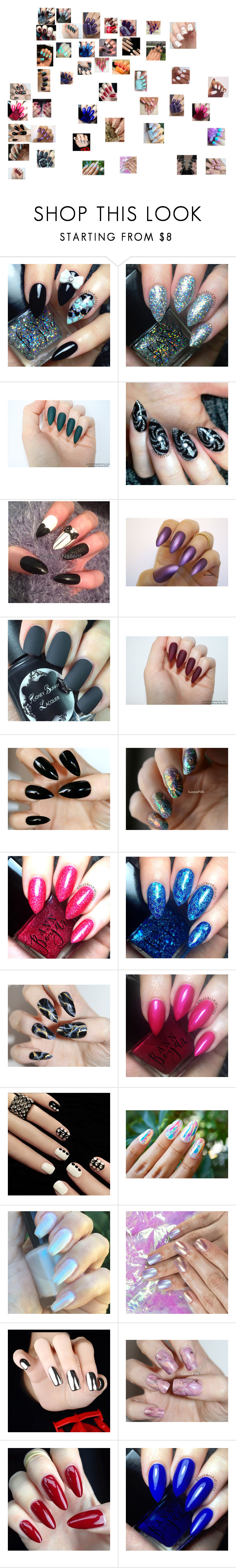 """nails design"" by skyabrooks ❤ liked on Polyvore featuring OPI"
