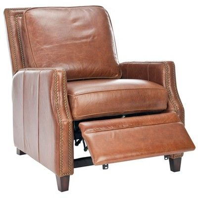 Best Buddy Italian Leather Recliner Coffee Safavieh Leather 400 x 300