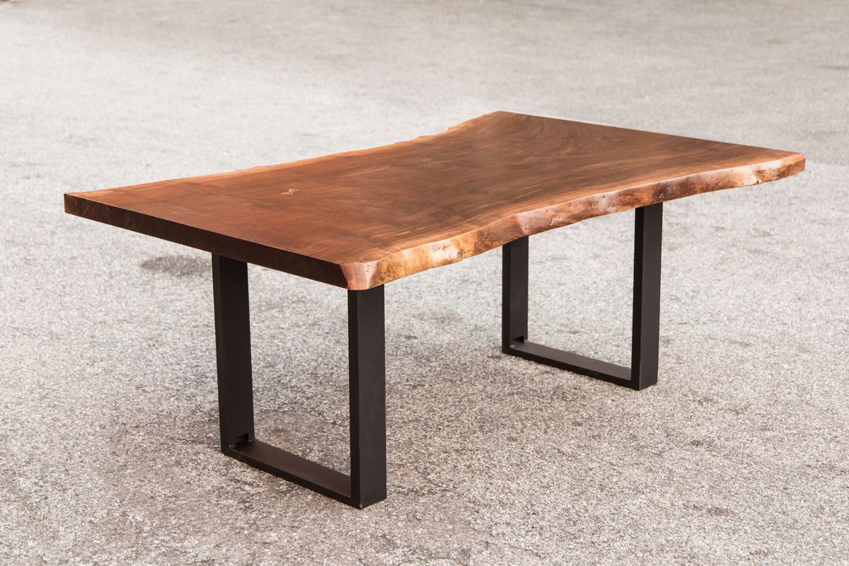Live Edge Tables With Solid Walnut Maple Oak Slabs Mobler