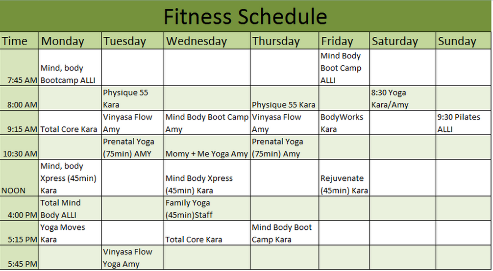 Weekly Workout Schedule Template Excel – Workout Char Template