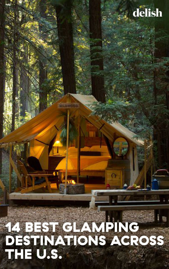 Add these gorgeous glamping destinations to your travel bucket list immediately! #travel #glamping #usa #luxurycamping #usstates #bucketlists #resorts #vacations #roadtrips #outdoors #glamping #glamping #de #lujo