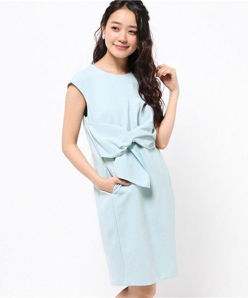 KATHARINE ROSS(キャサリン ロス)の【KATHARINE ROSS】tramerei luxus kleid ダブルクロスオビワンピース(ドレス)|ライトブルー