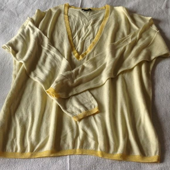 Pale Yellow Sweater   Yellow sweater, Hemline and Dress shirts