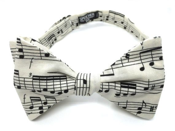 Music Bow Tie - bowtie, bow ties, bowties, band, musical, music notes, geek, nerd, geeky chic, marching band, choir, wedding, formal, fun