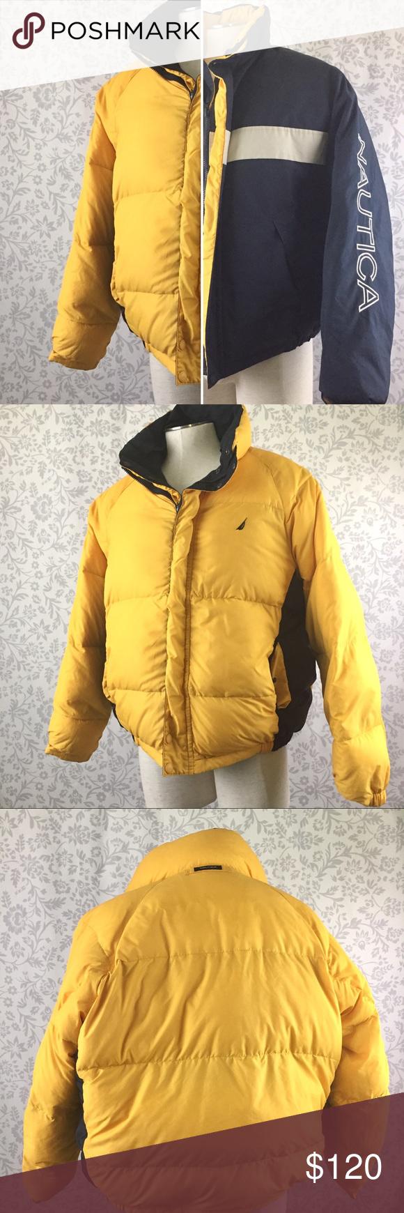 Nautica Vintage 90 Reversible Spellout Puffer Coat Clothes Design Puffer Coat Fashion [ 1740 x 580 Pixel ]