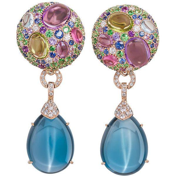 Margot McKinney Jewelry Carnivale Denim Blue Topaz Earrings with Diamonds FtCtL