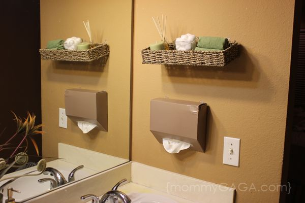 Diy Bathroom Decorating Ideas: DIY Bathroom Ideas: Floating Wall Decor And Kleenex Hand