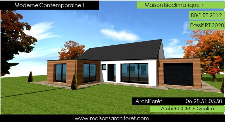 Moderne contemporaine 1 maison design ossature bois plain for Bardage maison ossature bois