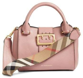 2acf566db421 Burberry Small Buckle Leather Satchel