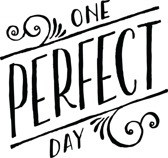 One perfect day hand lettered embellishment from zoggin
