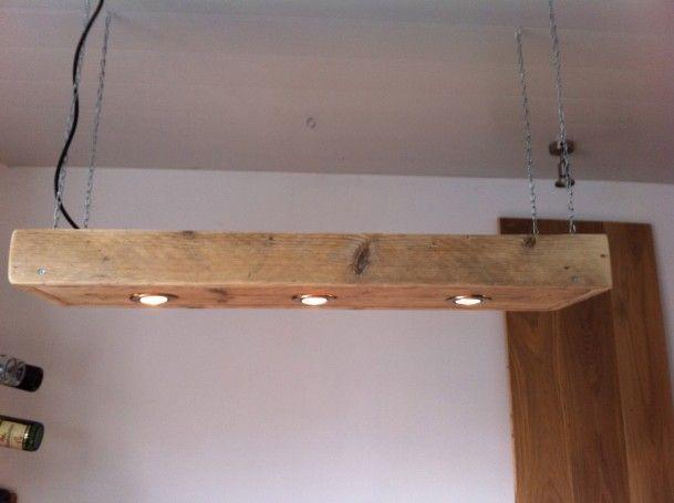 Wandlamp Steigerhout Slaapkamer : Steigerhouten lamp met spotjes home decoratie in