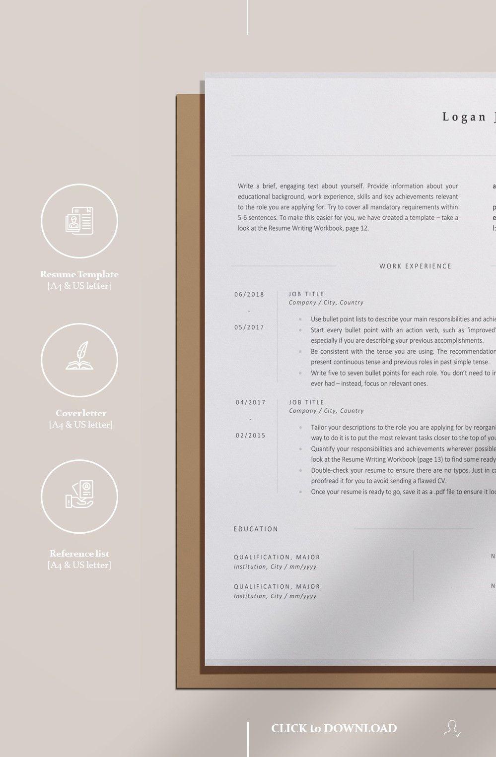 Minimalist Resume Template For Word Download Professional Resume Design Cv Design Inspiration Resume Tips Basic Resume Examples Resume Template