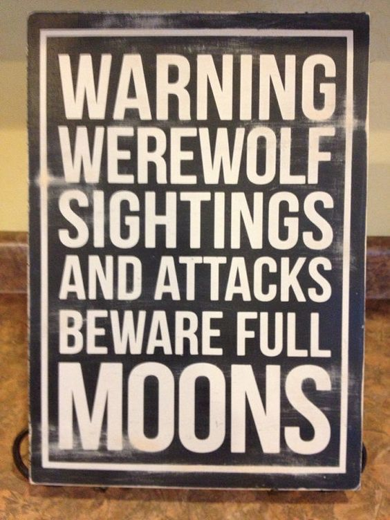 funny signs werewolves - Google Search