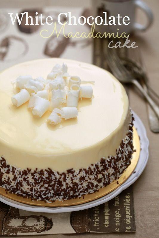 Chocolate cake with white ganache recipe