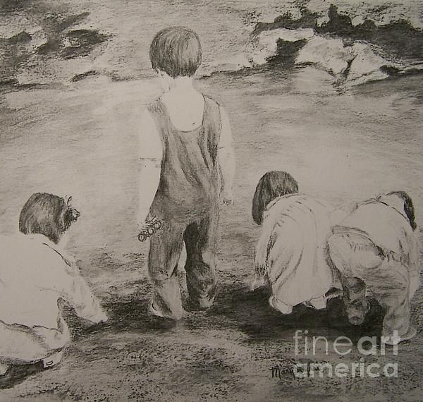 Graphite prospectors by mary lynne powers fine art america