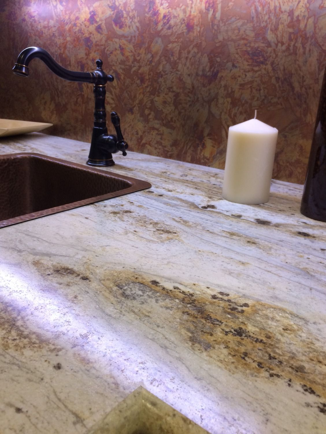 Copper Laminate Countertops Yes You Can Get This Look In Your Bathroom Affordably