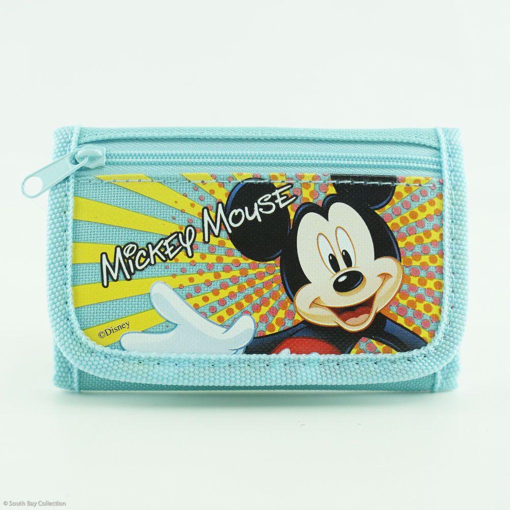 Mickey Mouse Boys Wallet Billfold Zip Kids Cartoon Coin Purse Party Gift