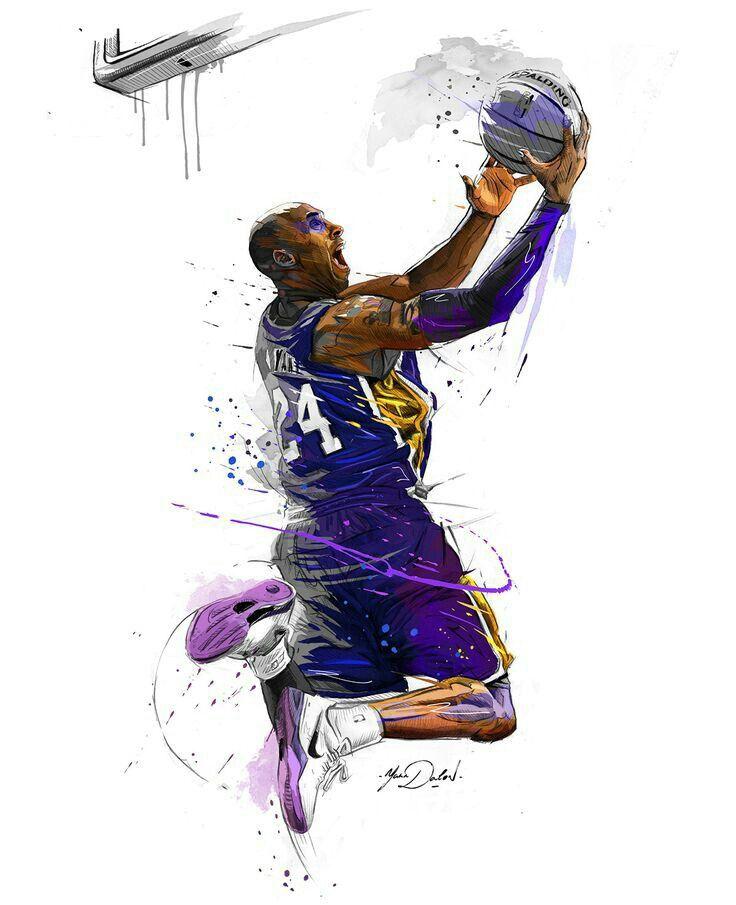 Kobe Bryant Kobe Bryant Dunk Basketball Drawings Nba