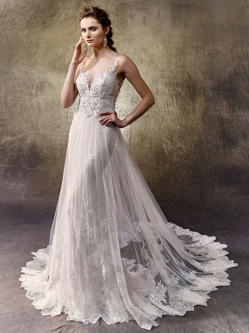 2017 Enzoani. Lovely, Available at Uptown Bridal- www.uptownbrides ...